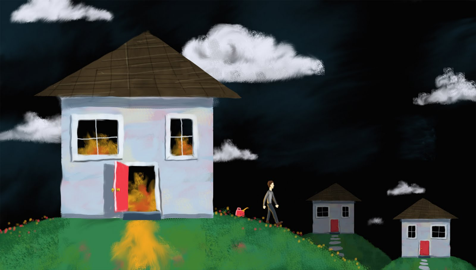 Talking heads burning down the house digital paint made for Digitally paint your house
