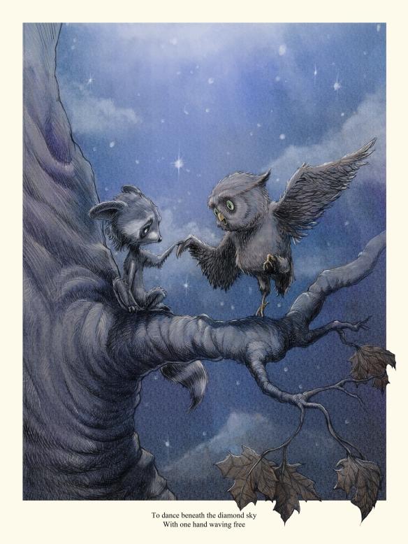 owl-raccoon-poster